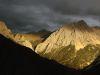 Landschaft in Tibet bei Sonnenuntergang
