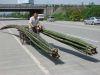 muskelbetriebener Bambustransport