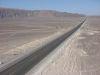 immer geradeaus durch die Wüste Richtung Nazca