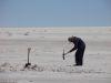 Salzgewinnung auf dem Salar de Uyuni
